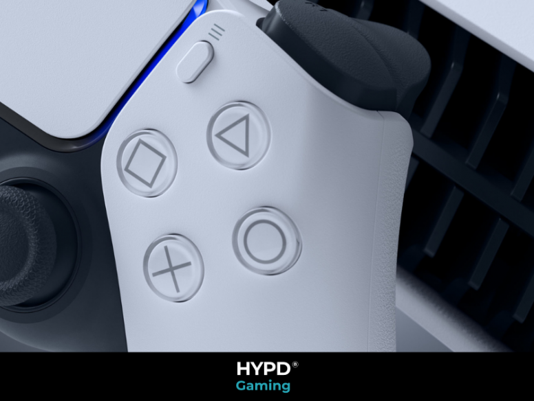 PS5 Controller with HYPD branding on the bottom